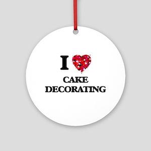 I love Cake Decorating Ornament (Round)