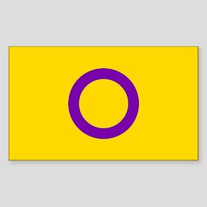Intersex Pride Flag Sticker (Rectangle)