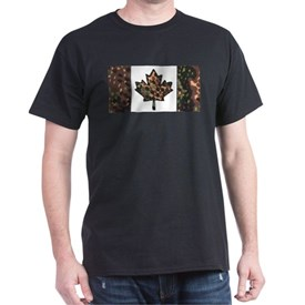 Canadian Flag Fall colors with spots camo T-Shirt
