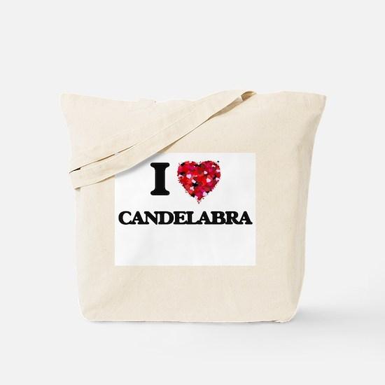 I love Candelabra Tote Bag