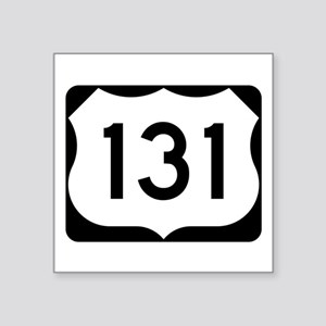 "Us Route 131 Square Sticker 3"" X 3"""