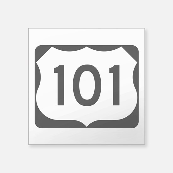 """Us Route 101 Square Sticker 3"""" X 3"""""""