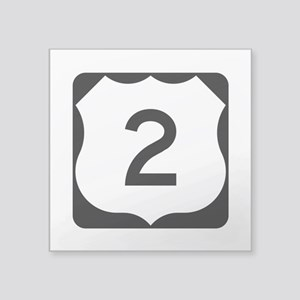 "Us Route 2 Square Sticker 3"" X 3"""