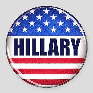 Vote Hillary 2016 Round Car Magnet