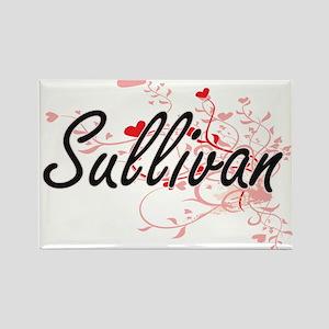 Sullivan Artistic Design with Hearts Magnets