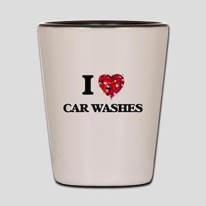 I love Car Washes Shot Glass