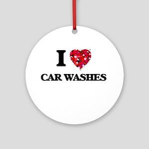 I love Car Washes Ornament (Round)