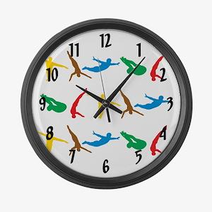 Diving Large Wall Clock