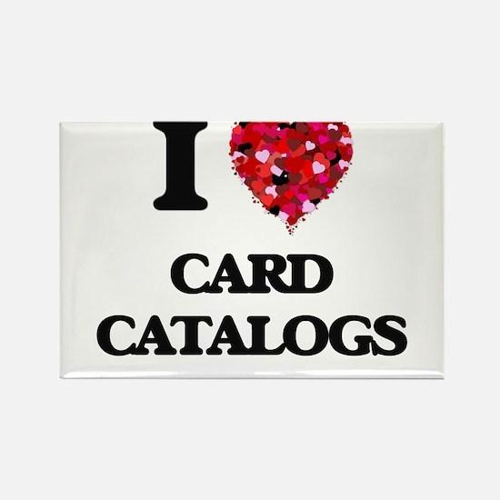 I love Card Catalogs Magnets