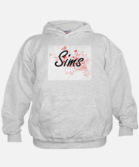 Sims Artistic Design with Hearts Hoodie