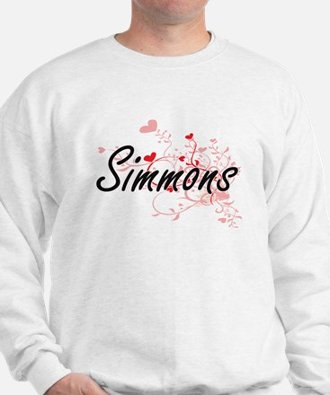 Simmons Artistic Design with Hearts Sweatshirt