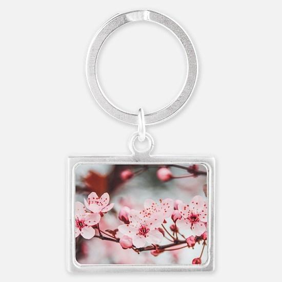 Cute Cherry Landscape Keychain