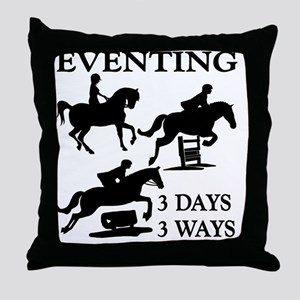EVENTING 3 Day 3 Ways Throw Pillow