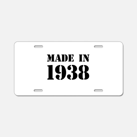 Made in 1938 Aluminum License Plate