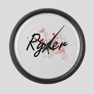 Ryder Artistic Design with Hearts Large Wall Clock