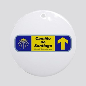 Camino de Santiago, Spain Ornament (Round)