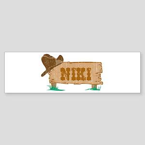 Niki western Bumper Sticker