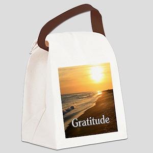 Gratitude Sunset Beach Canvas Lunch Bag