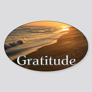 Gratitude Sunset Beach Sticker