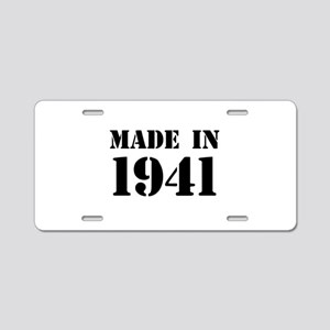 Made in 1941 Aluminum License Plate