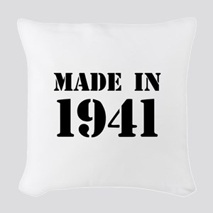 Made in 1941 Woven Throw Pillow