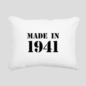 Made in 1941 Rectangular Canvas Pillow