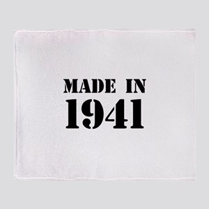 Made in 1941 Throw Blanket