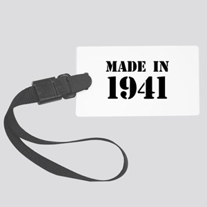 Made in 1941 Large Luggage Tag
