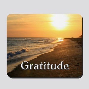 Gratitude Sunset Beach Mousepad