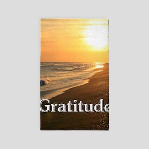 Gratitude Sunset Beach Area Rug
