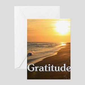 Gratitude Sunset Beach Greeting Cards