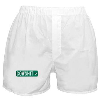 Cowshit Lane, Pennsylvania Boxer Shorts