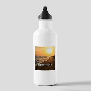 Gratitude Sunset Beach Stainless Water Bottle 1.0L