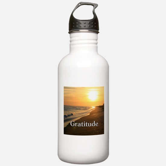 Gratitude Sunset Beach Water Bottle