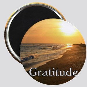 Gratitude Sunset Beach Magnets
