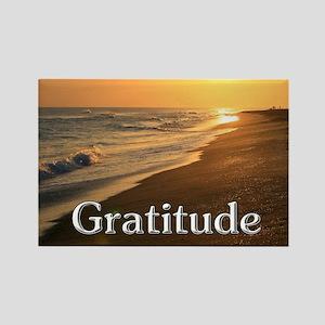 Gratitude Sunset Beach Magnets