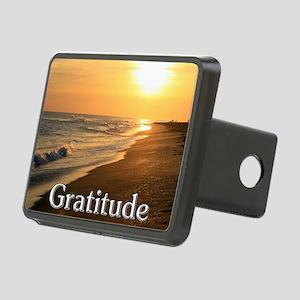 Gratitude Sunset Beach Rectangular Hitch Cover