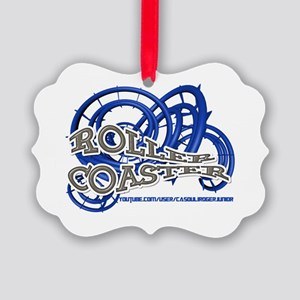 Youtube channel Roller Coaster BW Picture Ornament