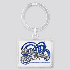 Youtube channel Roller Coaster  Landscape Keychain