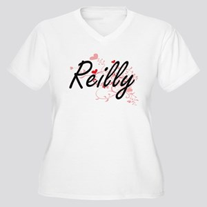 Reilly Artistic Design with Hear Plus Size T-Shirt