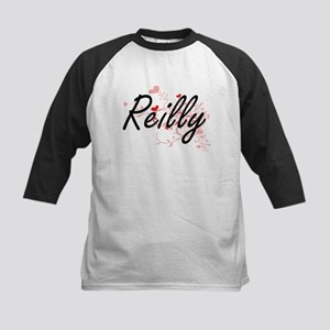 Reilly Artistic Design with Hearts Baseball Jersey