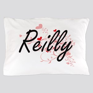 Reilly Artistic Design with Hearts Pillow Case