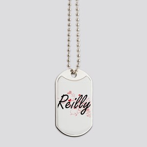 Reilly Artistic Design with Hearts Dog Tags