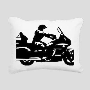 goldwing biker Rectangular Canvas Pillow