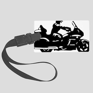 goldwing biker Large Luggage Tag
