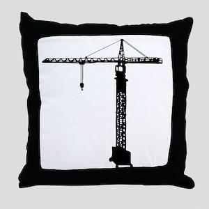 grue crane Throw Pillow