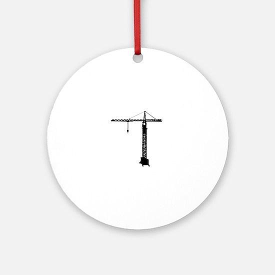 grue crane Round Ornament