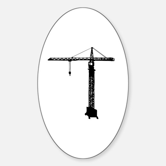 grue crane Sticker (Oval)