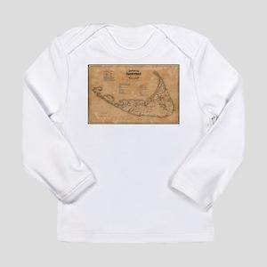 Vintage Map of Nantucket (1869 Long Sleeve T-Shirt