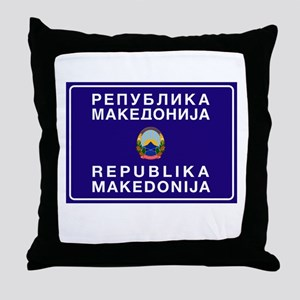 Welcome to Macedonia Throw Pillow